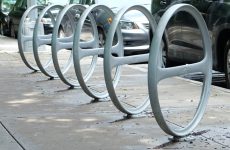 DOT NYC visit and new bicycle rack instalments